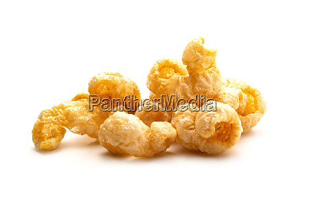 pork snack crispy and blistered isolated