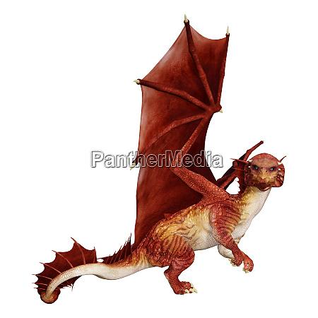 3d, rendering, fairy, tale, dragon, on - 28217977