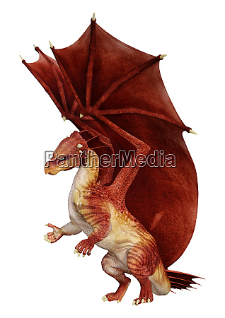 3d, rendering, fairy, tale, dragon, on - 28217979