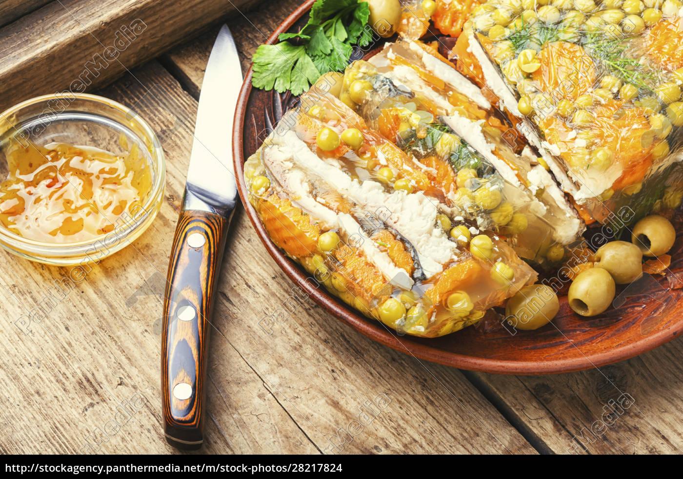 appetizing, jellied, fish. - 28217824