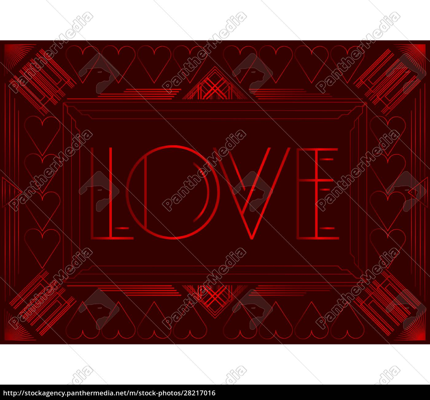 art, deco, love, text. - 28217016