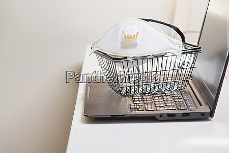 conceptual, photo, with, miniature, shopping-basket, and - 28217877
