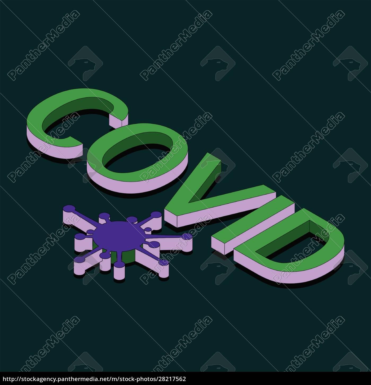 coronavirus, isomatric, text, design, background - 28217562