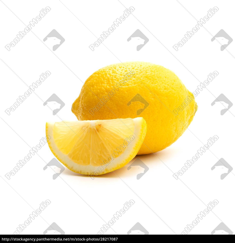 fresh, lemon, isolated, on, white, background. - 28217087