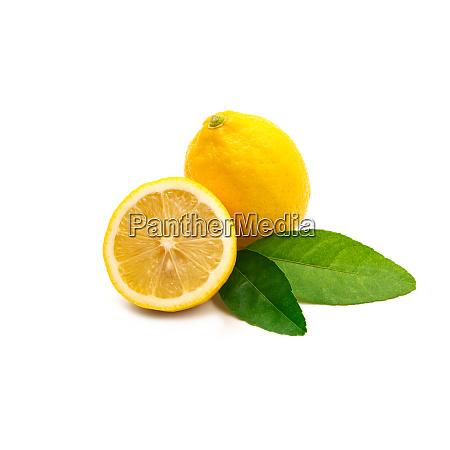 fresh, lemon, isolated, on, white, background. - 28217616