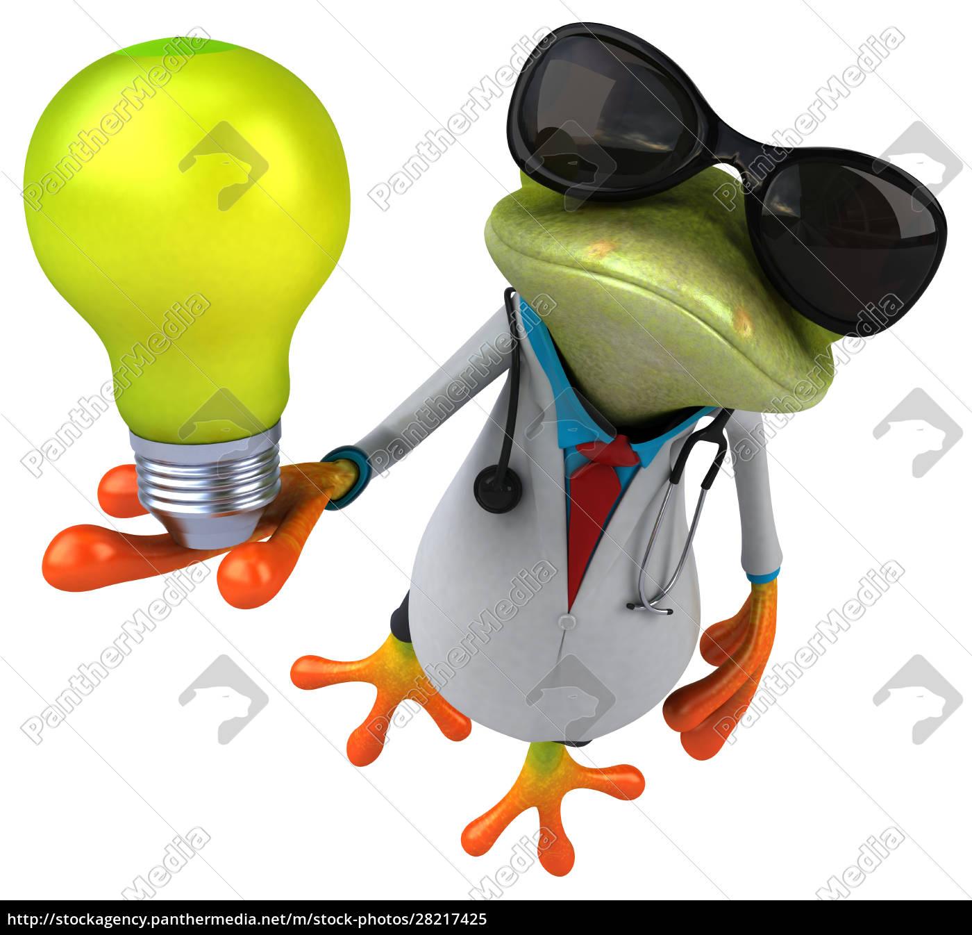 frog, doctor, -, 3d, illustration - 28217425