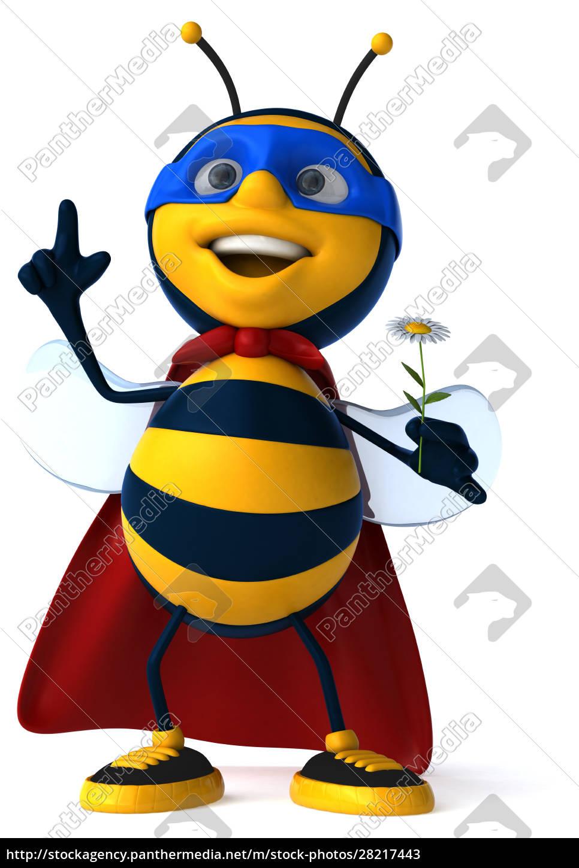 fun, bee, -, 3d, illustration - 28217443