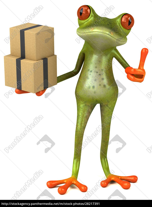 fun, frog, -, 3d, illustration - 28217391