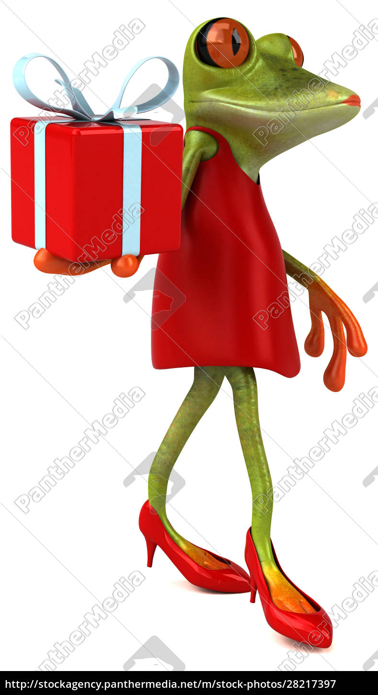 fun, frog, -, 3d, illustration - 28217397