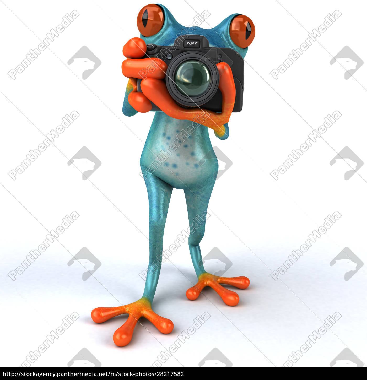 fun, frog-, 3d, illustration - 28217582