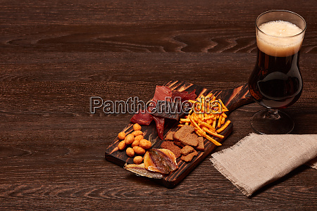 glass, with, beer, and, snacks - 28217455