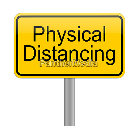physical, distancing, on, yellow, sign, - - 28217815