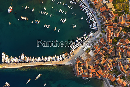 top view of docks in croatia
