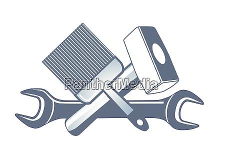 hand, tools, icon, illustration, , symbol, set - 28218167