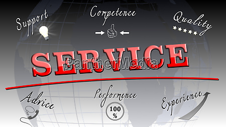 service concept with business elements