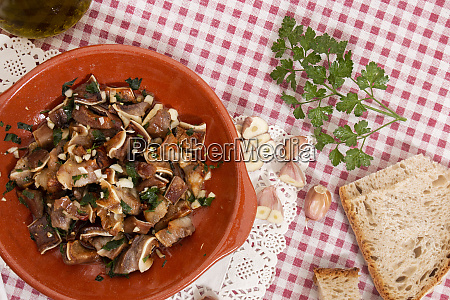 roasted pig ear with garlic and