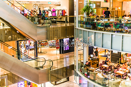 interior of paragon shopping centre at