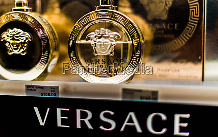 bottles, of, perfume, by, versace, on - 28222206