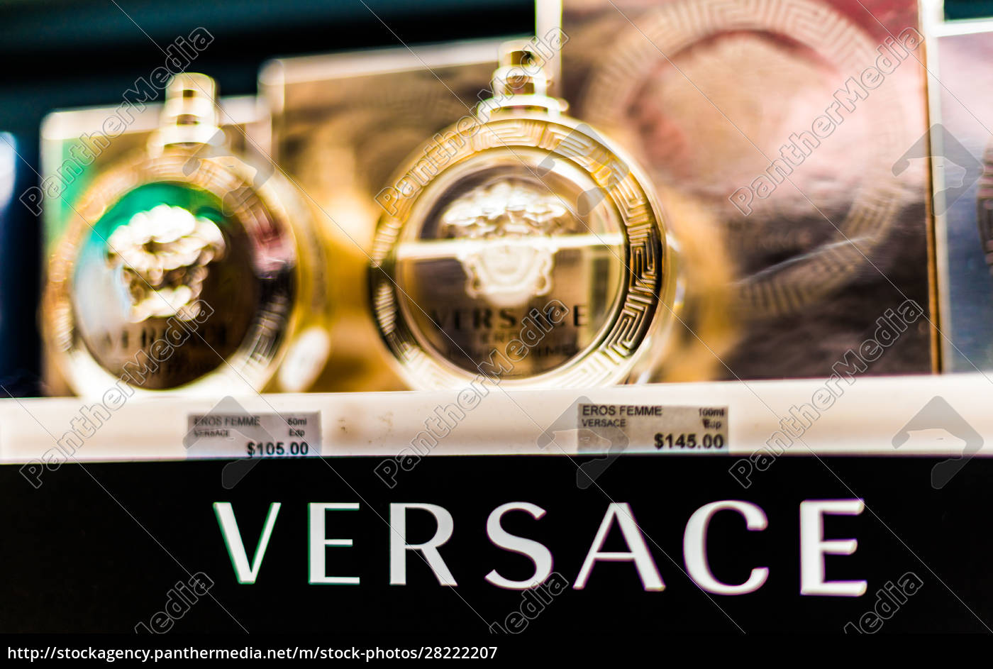 bottles, of, perfume, by, versace, on - 28222207