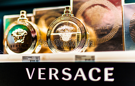 bottles, of, perfume, by, versace, on - 28222208