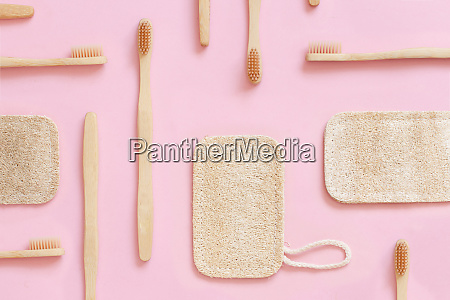 eco friendly bamboo toothbrushes and dish