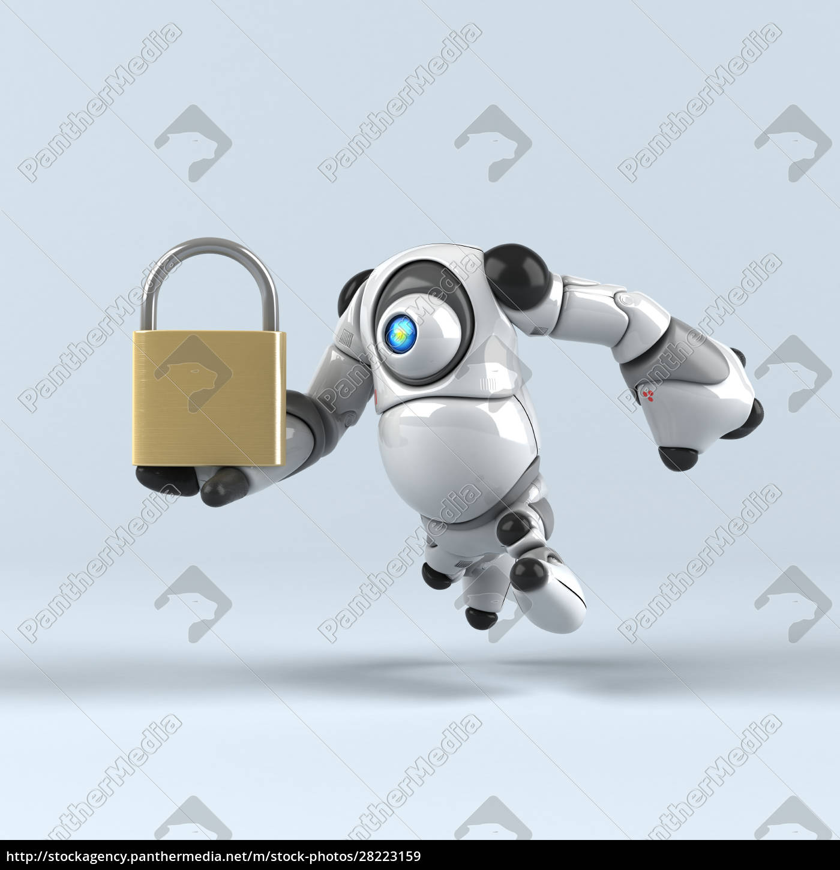 big, robot, -, 3d, illustration - 28223159