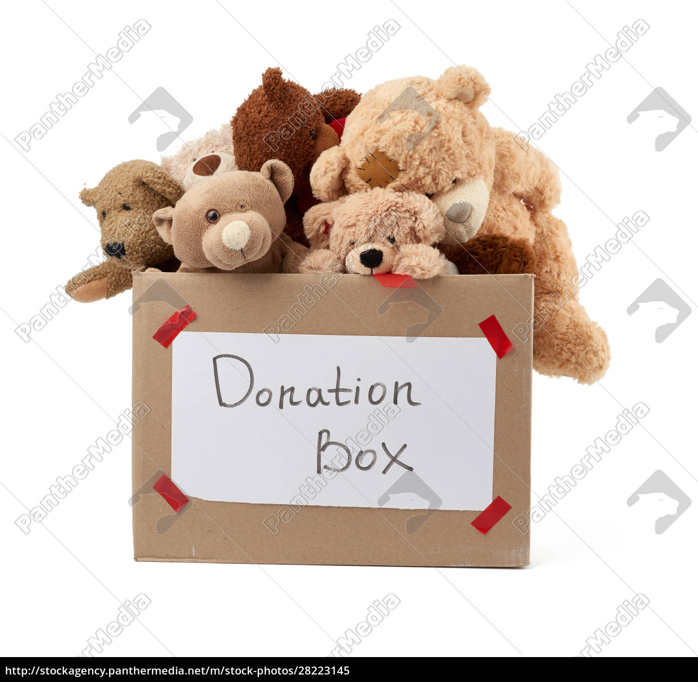 brown, cardboard, box, filled, with, soft - 28223145