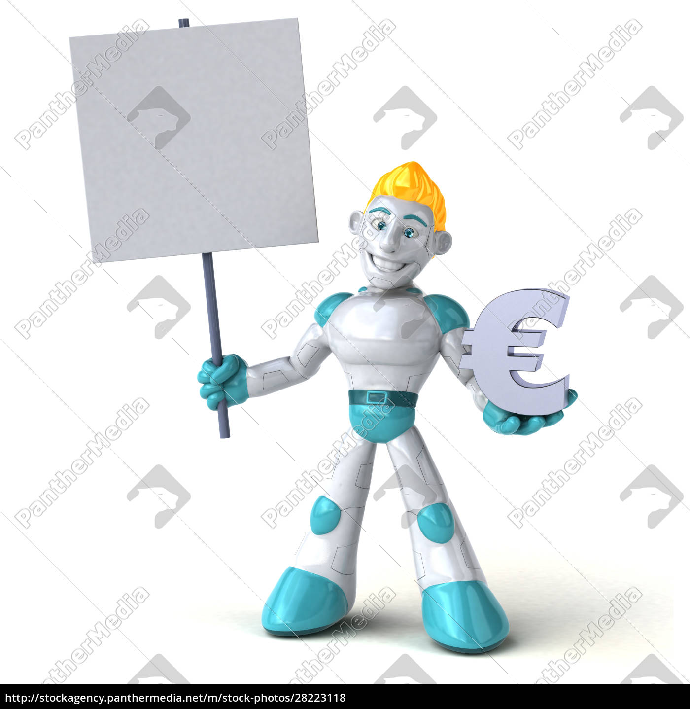 robot, -, 3d, illustration - 28223118