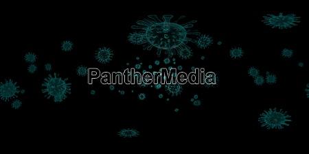 3d rendering microscope virus bacteria close