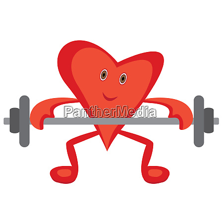 heart doing morning cardio exercises lift