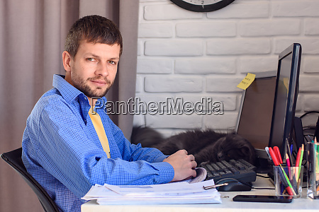 portrait of a self employed man