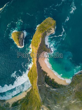 aerial view of nusapenida klungkung bali
