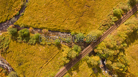 aerial view of landscape near glenfinnan