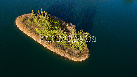 aerial view of the island of