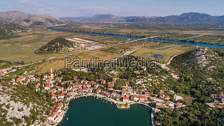 aerial view of rogotin in neretva