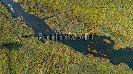 aerial view of norin river in
