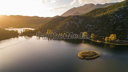 aerial view of bacina lakes near