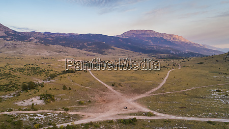 aerial view of dinara landscape near