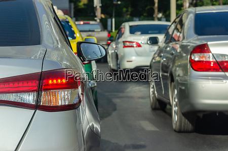 traffic jams on city streets