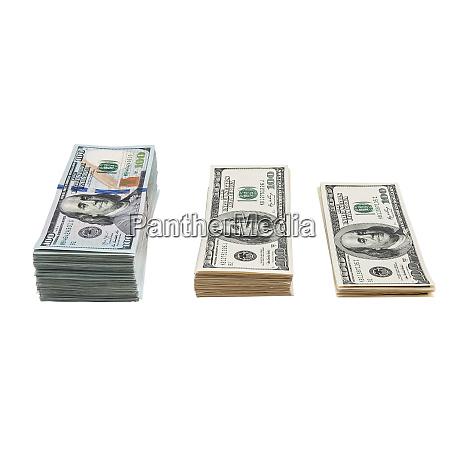 bundle of us 100 dollars bank