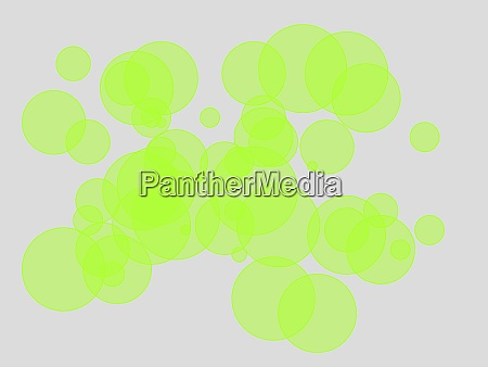 abstract green circles illustration background
