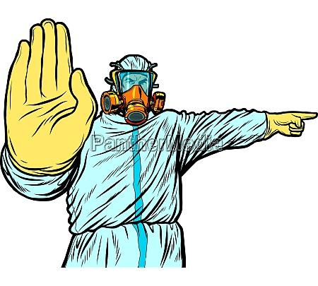 medic quarantine stop protection suit