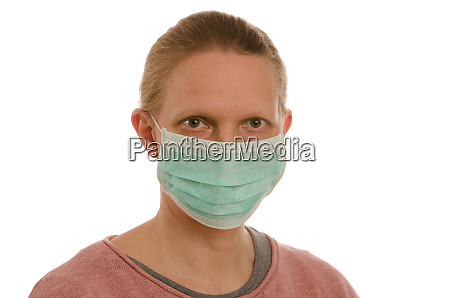 woman, with, mouth, protection, and, mask - 28231685