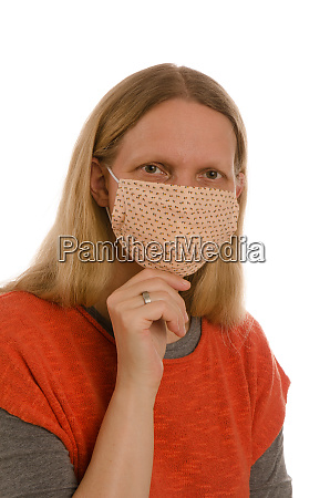woman, with, mouth, protection, and, mask - 28231767