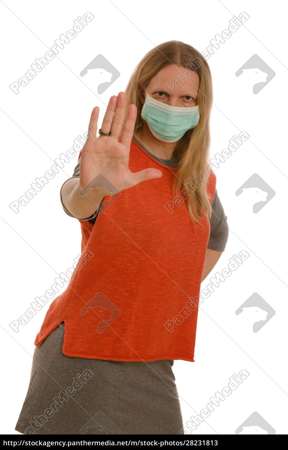 woman, with, mouth, protection, and, mask - 28231813
