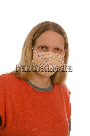 woman, with, mouth, protection, and, mask - 28231853
