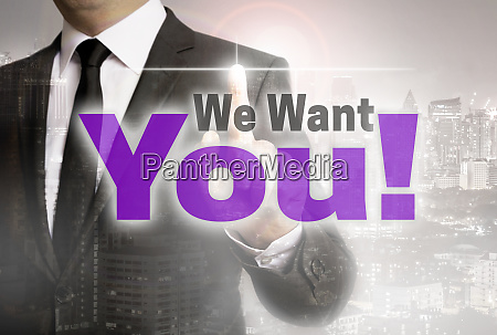we want you is shown by