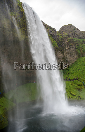 waterfall seljalandsfoss in the south coast
