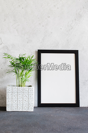 black poster or photo frame and
