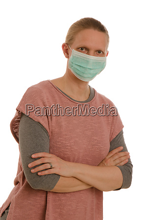 frau, mit, mundschutz, und, maske - 28232020